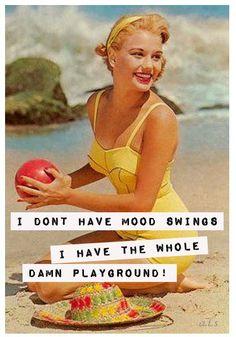 retro funny - mood swings....