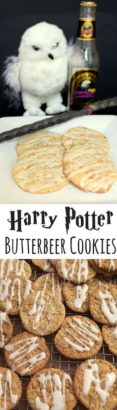 Then you'll love these Butterbeer Cookies! Then you'll love these Butterbeer Cookies! They'll transport you straight to The Three Broomsticks, The Hog's Head or the Leaky Cauldron. Dessert Oreo, Cookie Desserts, Cookie Recipes, Dessert Recipes, Cookie Ideas, Breakfast Recipes, Beaux Desserts, Delicious Desserts, Yummy Food