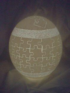 Carved Egg Jigsaw Puzzle Ostrich Egg Night por FarmFresh2FineArt