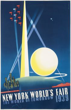 Joseph Binder Poster: New York World's Fair 1939