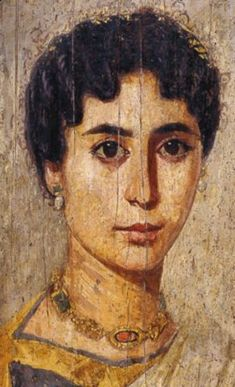 Gilded mummy portrait of a woman - Probably from er-Rubayat, Egypt Roman Period, about AD British Museum Art Essay, Lovers Art, Ancient, Painting, Egyptian Art, Visual Art, Ancient Art, Portrait, Ancient Paintings