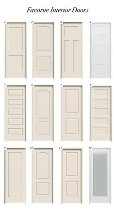 This post is part of a paid collaboration with Lowe's Home Improvement. When was the last time you thought about updating your doors, door/trim color and hardware? Interior Door Styles, Black Interior Doors, Door Design Interior, Interior Panel Doors, Interior Door Colors, Interior Door Trim, Farmhouse Interior Doors, Solid Doors, Traditional Doors