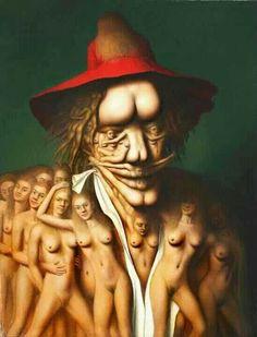Nude and erotic art: André Martins de Barros Figure Painting, Body Painting, Image Fruit, Image Nature, Images Vintage, Illusion Art, Science Fiction Art, Fantasy Illustration, Black Women Art