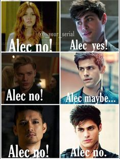 Alec listens to no one. He partly listens to his Parabatai to but fully listens to his boyfriend Alec listens to no one. He partly listens to his Parabatai to but fully listens to his boyfriend Shadowhunters Malec, Shadowhunters The Mortal Instruments, Clace, Jace Wayland, Alec Lightwood, Catching Fire, Shadow Hunters Cast, Clary Et Jace, Cassandra Clare Books