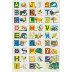 Poster Alphabet et imagier indien kitsch kitchen