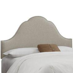 Skyline Arch Nail Button Woven Upholstered Headboard Dove, Size: California King - 854NB-PWKLNDV
