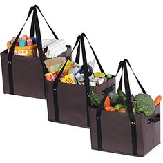 ATBAY Reusable Grocery Bags Heavy Duty Shopping Box Collapsible Extra Large For for sale online Delivery Bag, Family Picnic, Reusable Shopping Bags, 21st Gifts, Basket Bag, One Bag, Gift Baskets, Bag Making, Martini