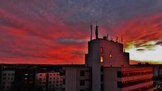 Sonnenuntergang.....Rathaus Wesseling
