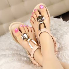 Shop affordable trendy flat shoes for women at shoespie. You can find various of cute flat shoes for huge discount including rhinestone thong flat sandals, rhinestone gladiator flats, embellished leather flat shoes. Page 3 Pretty Sandals, Pink Flats, Cute Flats, Fashion Flats, Women's Fashion, Flat Sandals, Flat Shoes, Shoes Sandals, Beautiful Shoes