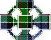 Scottish Tartan cross stitch pattern - Celtic cross