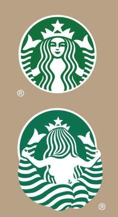 Starbucks logo ... someone HAD to go there...