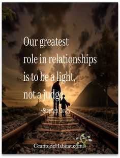 You are the light.  Visit us at: www.GratitudeHabitat.com