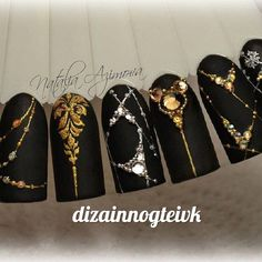 Дизайн ногтей тут! ♥Фото ♥Видео ♥Уроки маникюра Love Nails, Pretty Nails, Nail Manicure, Gel Nails, Nails Art 2016, Nagel Bling, Studded Nails, Nailart, Nail Polish Art