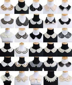 Doll collars for every dress mo Neckline Designs, Blouse Neck Designs, Collar Designs, Fashion Sewing, Diy Fashion, Fashion Outfits, Sewing Collars, Costura Fashion, Sleeves Designs For Dresses