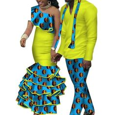 African Matching Clothing For Couple Man Woman Cotton Print Send Your – Afrinspiration Model Pictures, Model Photos, Traditional African Clothing, African Dashiki, Matching Couples, High Waisted Skirt, African Weddings, Clothes For Women, Mens Tops