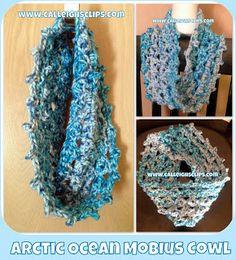 Calleigh's Clips & Crochet Creations: Arctic Ocean Mobius Cowl - Free Crochet Pattern