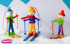 Wasknijper skiërs