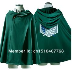 Cos SNK Anime Shingeki no Kyojin Cloak Cape clothes cosplay wing of freedoom  Eren Levi Attack on Titan free size