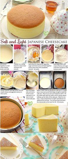 SugaryWinzy suave y ligero como el aire japonés pastel de queso: