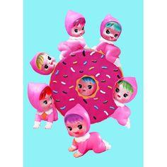 Etsy の donut doll print 5 x 7 DOLLICIOUS by boopsiedaisy