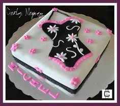 BRIDAL SHOER FONDANT CORSET CAKE (Pastel de despedida de soltera con diseño de corset)