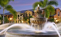 Fountain at the Lely Resort in Naples Florida