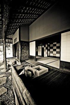 Japanese architecture in Katsura Imperial Villa, Kyoto 桂離宮