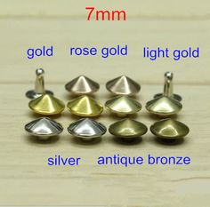 Find More Garment Rivets Information about Free Shipping 7mm Metal Plated Round Cone Rivet Spike Stud Punk Leathercraft DIY,Gold,Silver,Antique Bronze,Rose Gold,Light Gold,High Quality gold body piercing jewellery,China gold star lighting Suppliers, Cheap light guidance from Fashionista Style on Aliexpress.com