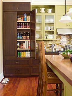 30 Handy Kitchen Pantry Closet Design Ideas There are many ways to adapt the kitchen pantry closet d Kitchen Pantry Design, Pantry Shelving, Kitchen Pantry Cabinets, Kitchen Organization Pantry, New Kitchen, Kitchen Storage, Pantry Ideas, Shelves, Organized Kitchen