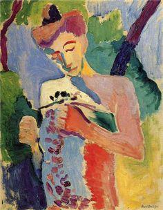 "Henri Matisse, ""Branch of Flowers,"" Fauvism Henri Matisse, Matisse Art, Figure Painting, Painting & Drawing, Painting Lessons, Matisse Paintings, Raoul Dufy, Kunst Online, Plastic Art"