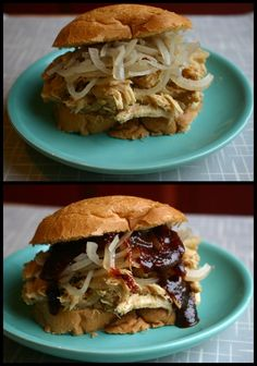 Mustard and Vinegar BBQ Pulled Chicken in a Slow Cooker