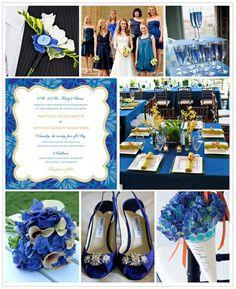 Cobalt Blue Inspiration Board #weddings
