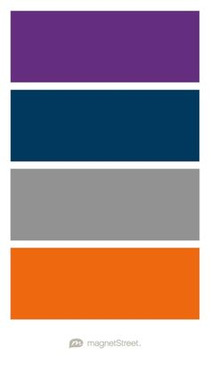 Plum, Navy, Classic Gray, and Orange Wedding Color Palette - custom color palette created at MagnetStreet.com