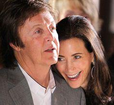 Paul McCartney and Nancy Shevelle-McCartney (awww, so sweet!)