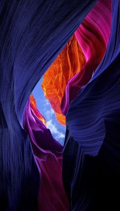 Lower Antelope Canyon, Arizona. Nice color enhancement, but it's still a beautiful place