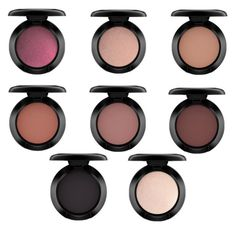 """""""Must have mac Eyeshadows for Fall//Cranberry,All that glitters, Soft brown, Swiss Chocolate, Brown script, Embark, Carbon,Vanilla"""" by daniegirl14 on Polyvore"""