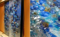 Click on the slide!  Gorgeous bubble/rock shapes in glass