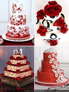 Wedding Cakes With Roses 2012