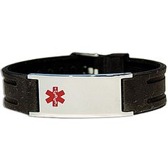 Alert EMT's in emergency situations by applying one or more of the included 15 condition stickers to the back of the stainless steel bracelet.