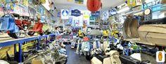 Museo della lambretta. Un museo tutto italiano, con un tocco Yankee... in Gran Bretagna. (Clicca sulla foto per aprire il tour virtuale)