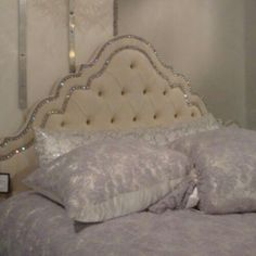 We Lived Happily Ever After Diy Deep Tufted Drop Cloth Headboard