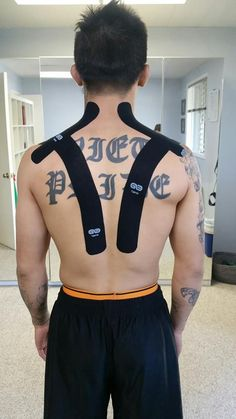 """""""A simple postural and cervical spine-trap support tape job"""" - Go Tape"""