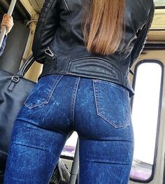Jeans bottom and leather jacket