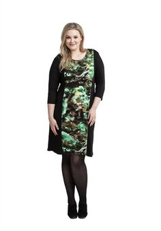 Wear it with heels, wear it with boots and tights - you cannot make a wrong fashion move with our edgy take on the classic shift dress. This plus size dress is available in sizes 14-24 | Women's Plus Size Fashion #plussize #fashion