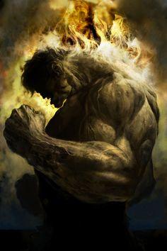 #Hulk #Fan #Art. (Burning Rage!!!) By: Derylbraun. (THE * 5 * STÅR * ÅWARD * OF * MAJOR ÅWESOMENESS!!!™)