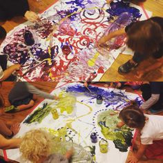1. Does paint go in our mouths? 2. Does paint go in our eyes? 3. Does paint go in our friends hair?  Other than that go ahead and explore! @bijakids #bijakids