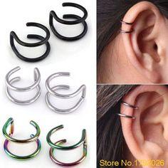 Ear Clip Jewelry Men's Women's Clip-on Earrings Non-piercing Ear Cartilage Cuff Eardrop  4TO5