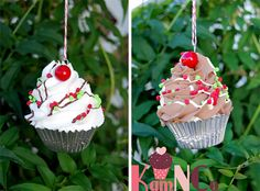 Christmas Faux Cupcakes