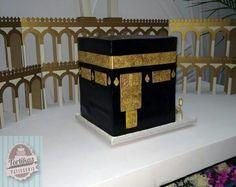 Kaaba cake Fondant Cake Designs, Fondant Toppers, Fondant Cakes, Beautiful Cakes, Amazing Cakes, Cupcakes, Cupcake Cakes, Eid Cake, Grandma Cake