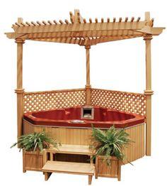 Corner Hot Tub And Gazebo Love It Patio